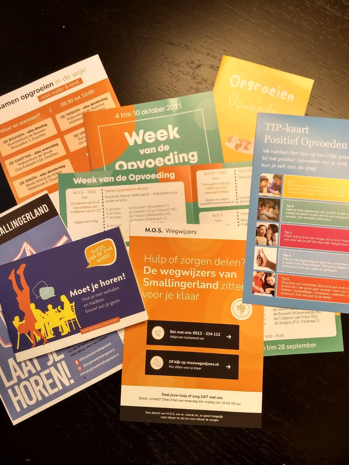 Folders Week van de Opvoeding